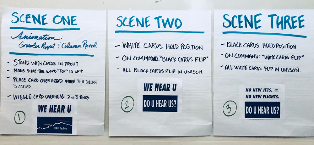 Scene instructions