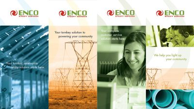 ENCO Brochure covers