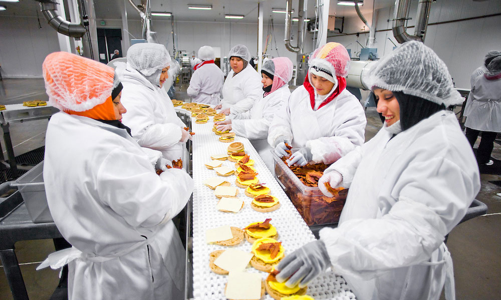sk food group assembly line women