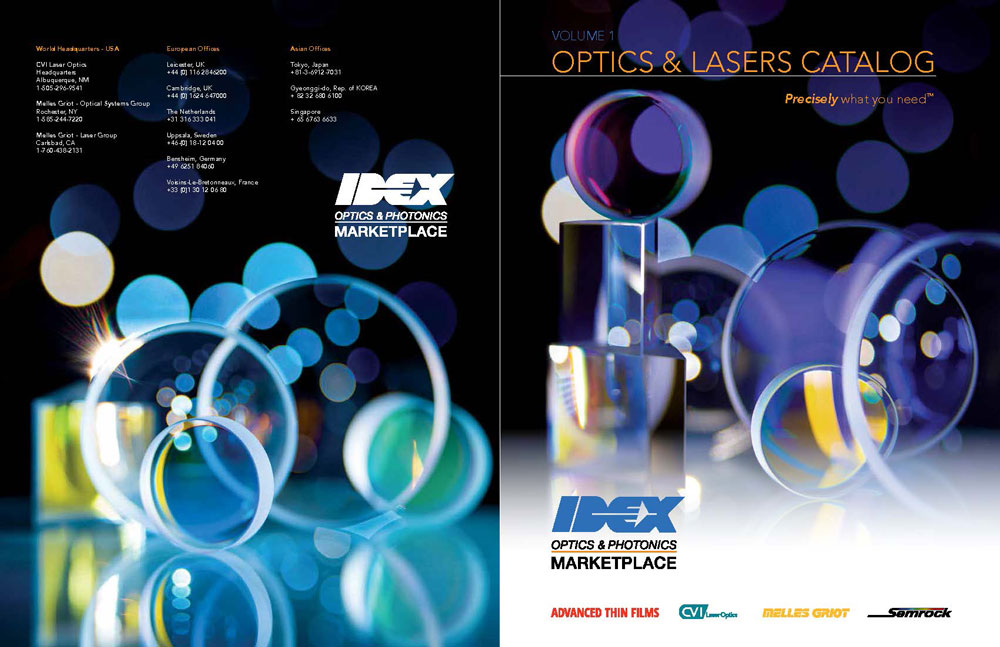 Idex catalog cover and back