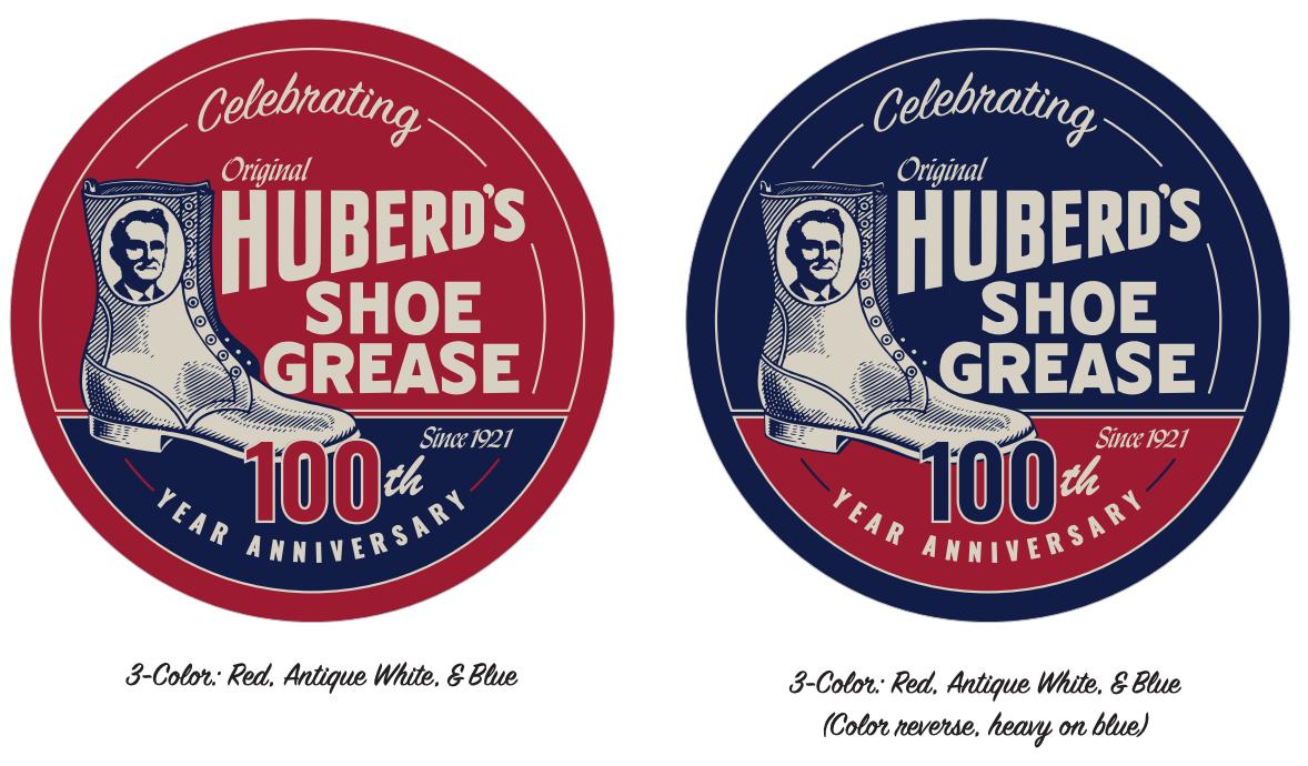 huberd's 100 years logos