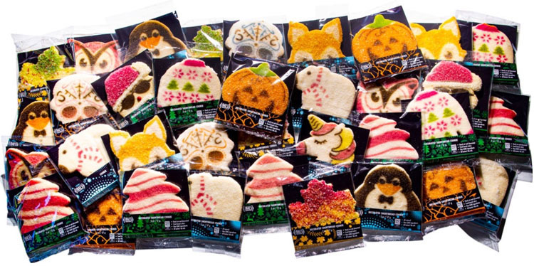 square cookie bags