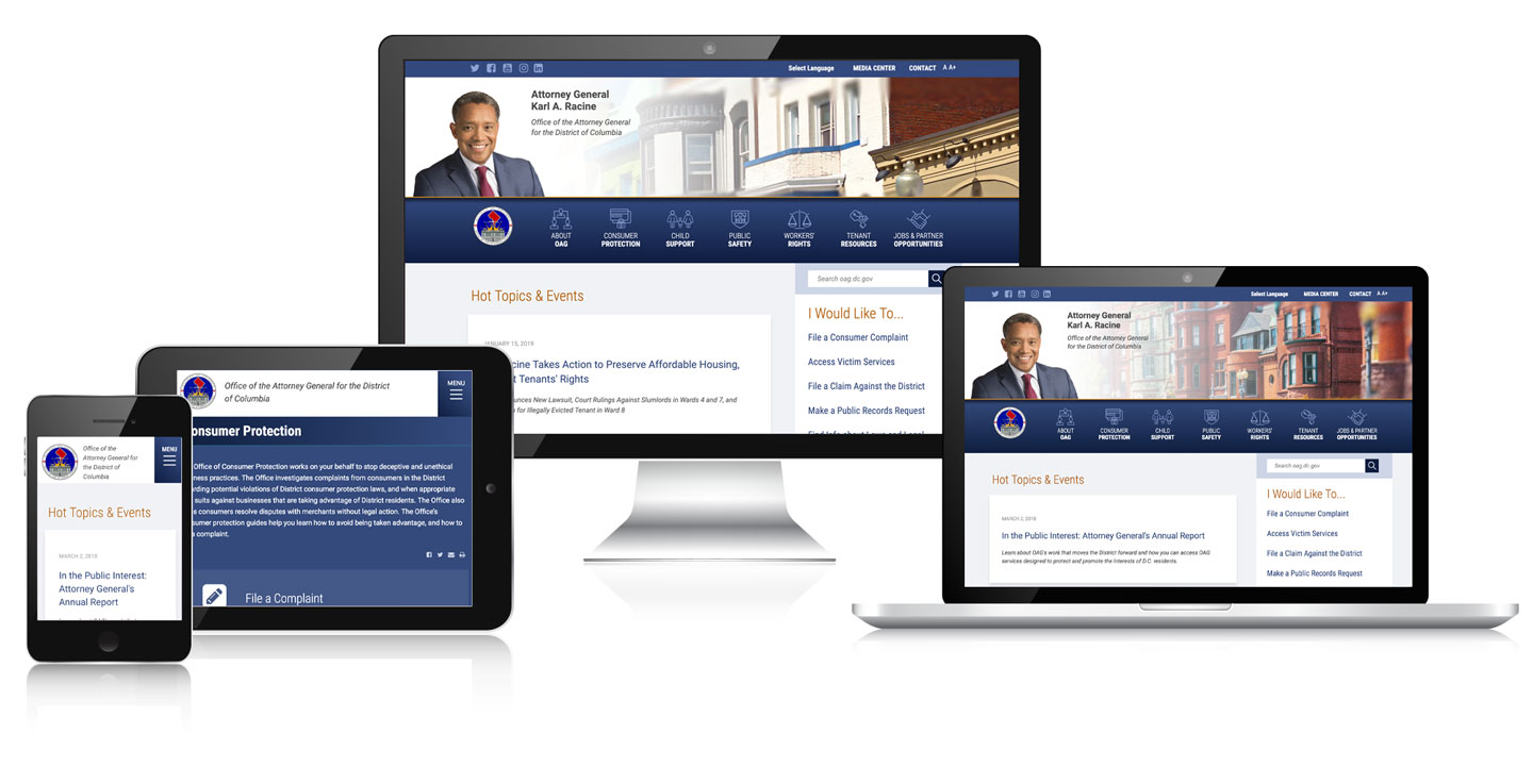 Responsive Office Attorney General DC image