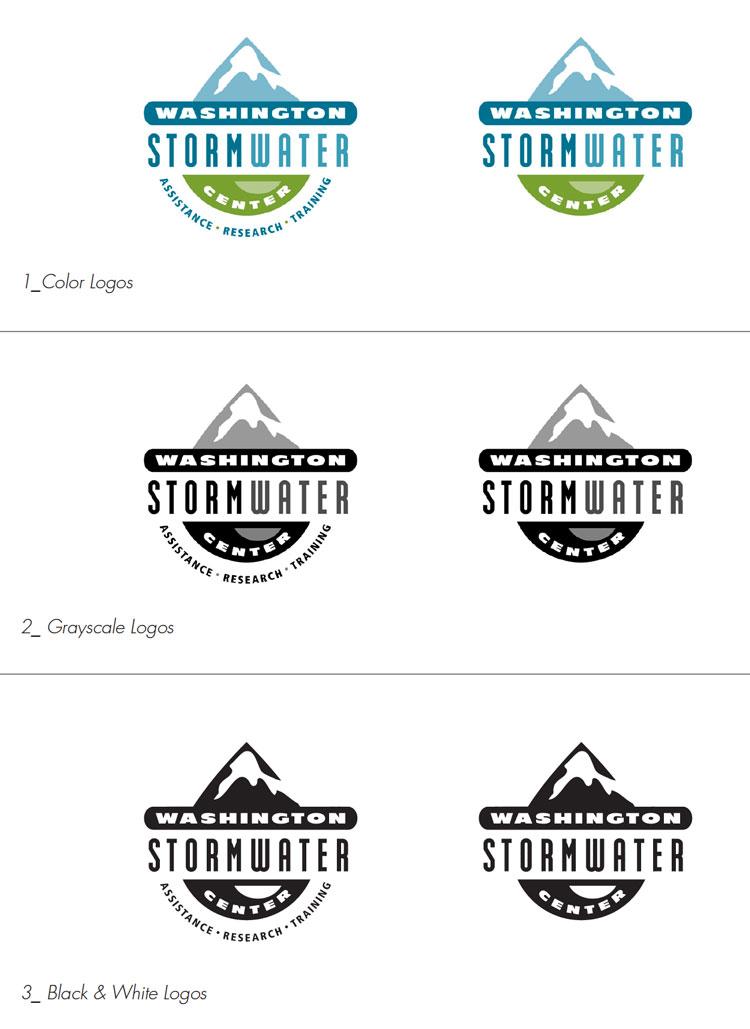 washington stormwater logo variations